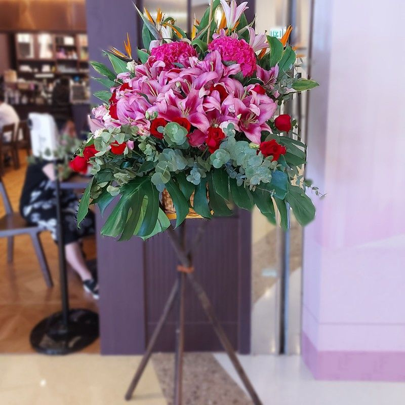 Opening flower baskets - all directions - OPS0510A