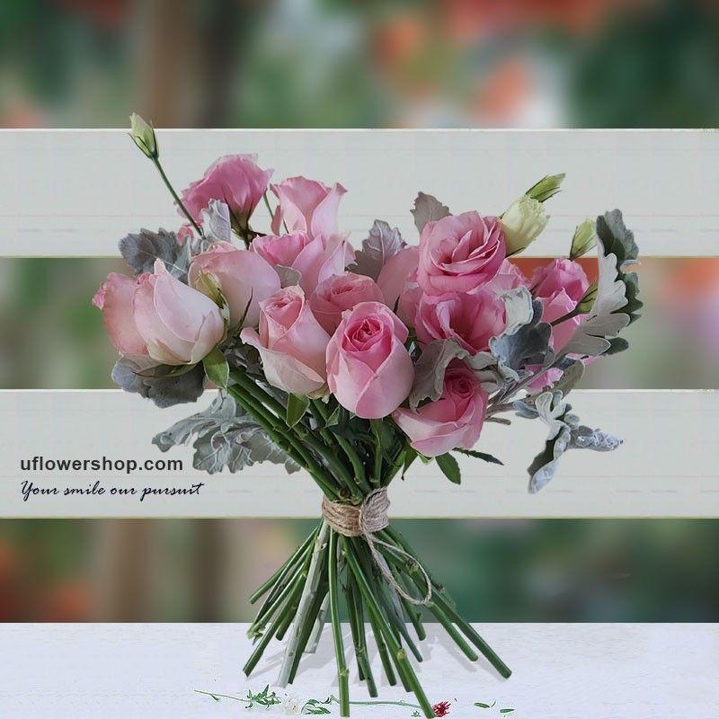 Pink Girly Heart Bouquet