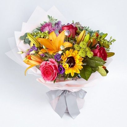 Rose with Sayuri Sunflower...